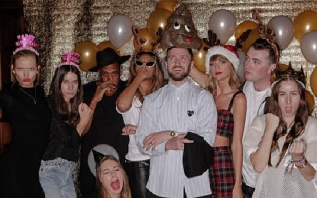 HAIM, Jay Z, Beyoncé, Justin Timberlake, Sam Smith e Taylor Swift