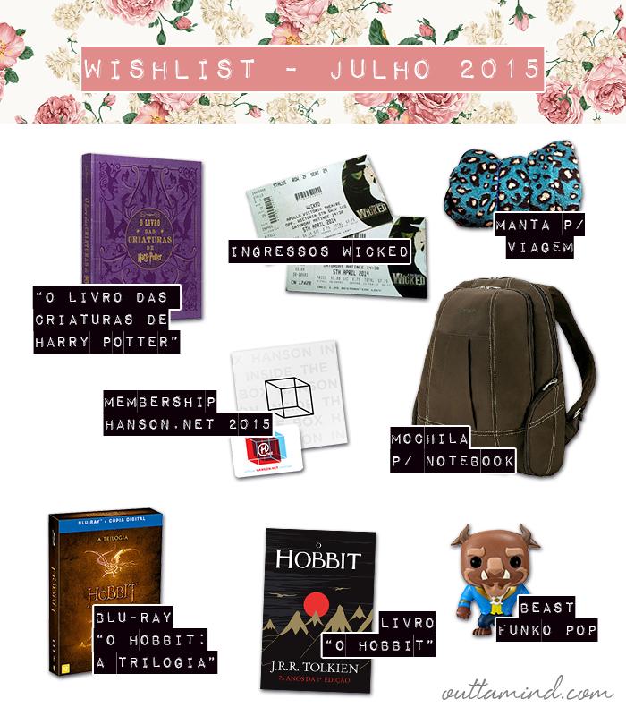 Wishlist Julho 2015