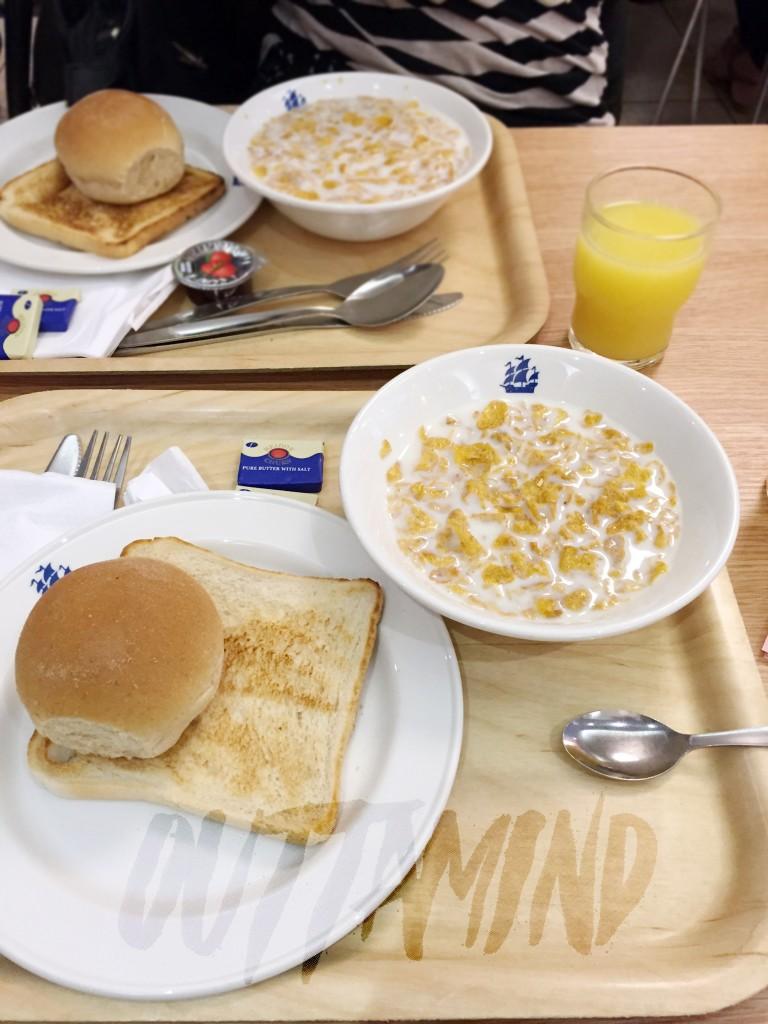 Meu café da manhã de todo dia.