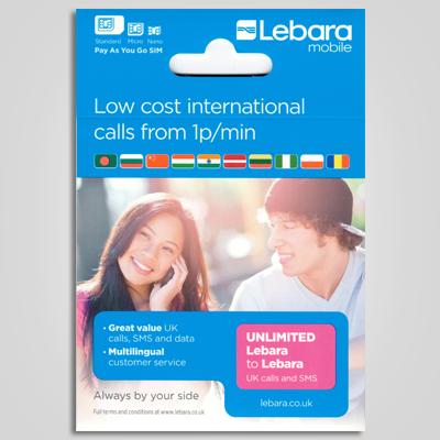 SIM card da Lebara. (Divulgação)